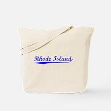 Vintage Rhode Island (Blue) Tote Bag