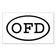 OFD Oval Rectangle Decal