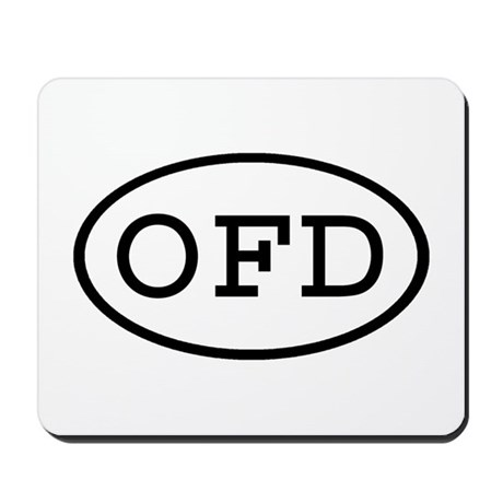 OFD Oval Mousepad