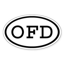 OFD Oval Oval Decal