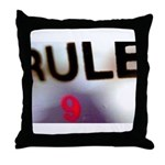 Rule 9 Throw Pillow