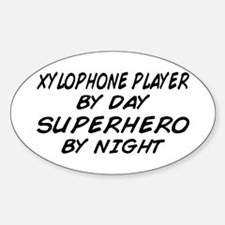 Xylophone Plyr Superhero by Night Oval Decal