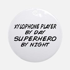 Xylophone Plyr Superhero by Night Ornament (Round)