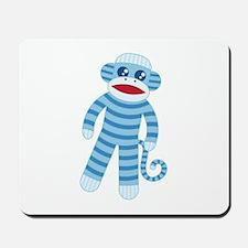 Blue Sock Monkey Mousepad