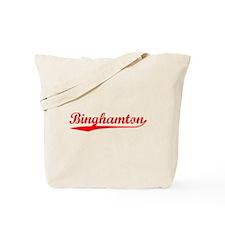 Vintage Binghamton (Red) Tote Bag