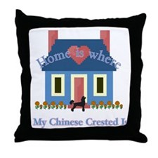 Chinese Crested Home Throw Pillow