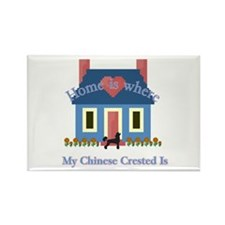 Chinese Crested Home Rectangle Magnet (100 pack)
