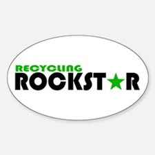 Recycling Rockstar 2 Oval Decal