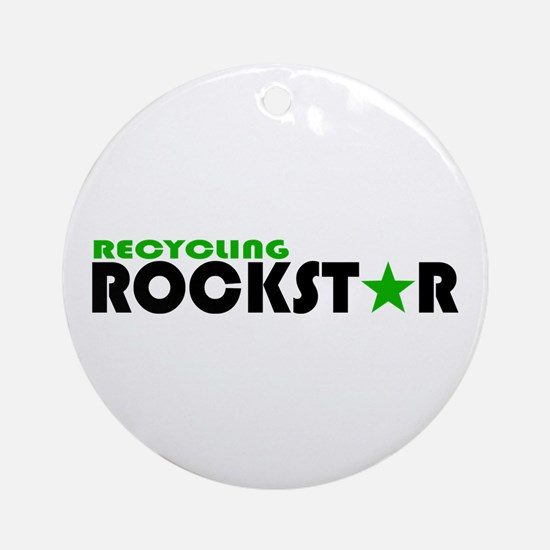 Recycling Rockstar 2 Ornament (Round)