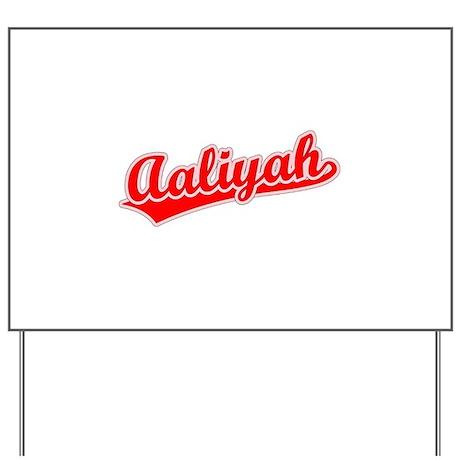 Retro Aaliyah (Red) Yard Sign