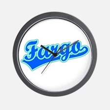 Retro Fargo (Blue) Wall Clock