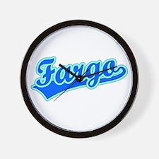 Retro Fargo (Blue) Wall Clock