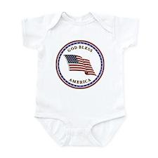 God Bless America Infant Creeper