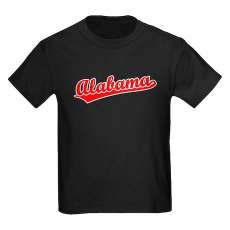 Retro Alabama (Red) Kids Dark T-Shirt