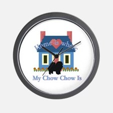 Chow Chow Home Is Wall Clock