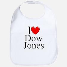 """I Love (Heart) Dow Jones"" Bib"
