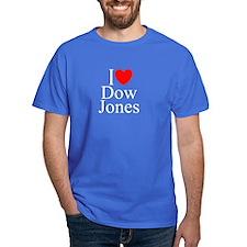 """""""I Love (Heart) Dow Jones"""" T-Shirt"""