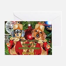 Christmas Bulb Dogs Greeting Card