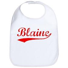 Vintage Blaine (Red) Bib