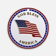 God Bless America Keepsake (Round)