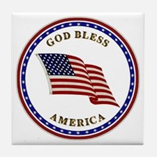 God Bless America Tile Coaster