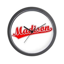 Retro Madison (Red) Wall Clock