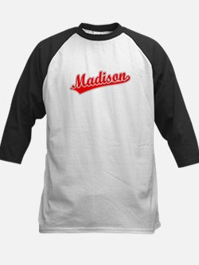 Retro Madison (Red) Kids Baseball Jersey