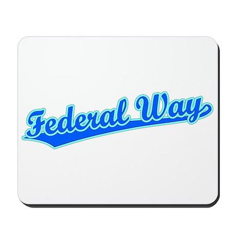 Retro Federal Way (Blue) Mousepad