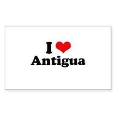 I love Antigua Rectangle Sticker 50 pk)