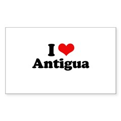 I love Antigua Rectangle Sticker 50 pk)