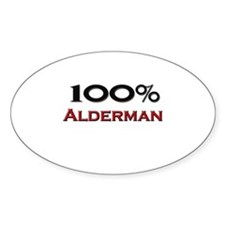 100 Percent Alderman Oval Decal