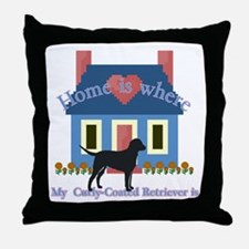 Curly Coated Retriever Throw Pillow