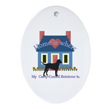 Curly Coated Retriever Oval Ornament