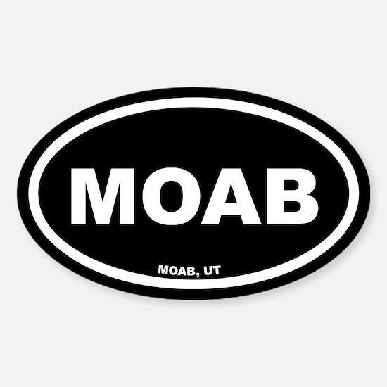 MOAB Utah Black Euro Oval Decal