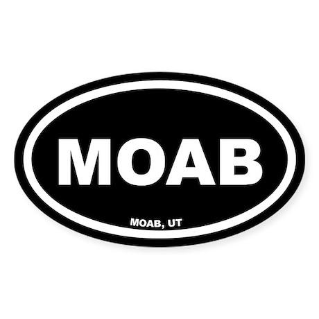 MOAB Utah Black Euro Oval Sticker