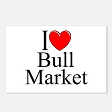 """I Love (Heart) Bull Market"" Postcards (Package of"