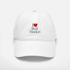 """I Love (Heart) Bull Market"" Baseball Baseball Cap"