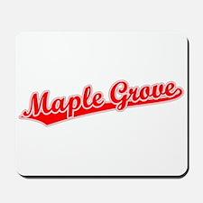 Retro Maple Grove (Red) Mousepad