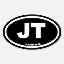 JT Joshua Tree, CA Black Euro Oval Decal