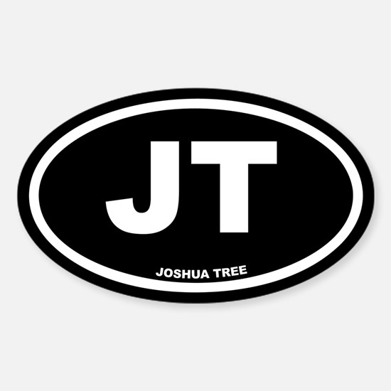 JT Joshua Tree, CA Black Euro Oval Decal
