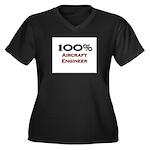 100 Percent Aircraft Engineer Women's Plus Size V-