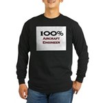 100 Percent Aircraft Engineer Long Sleeve Dark T-S