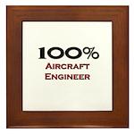 100 Percent Aircraft Engineer Framed Tile