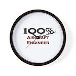 100 Percent Aircraft Engineer Wall Clock