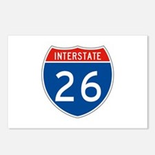 Interstate 26, USA Postcards (Package of 8)
