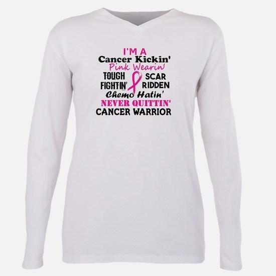 -Cancer Kickin' Cancer Warrior (Breast Can T-Shirt