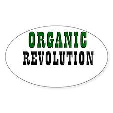 Organic Revolution Oval Decal