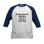 String Quartet Four Play Kids Baseball Jersey