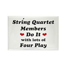 String Quartet Four Play Rectangle Magnet