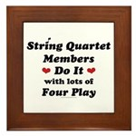 String Quartet Four Play Framed Tile
